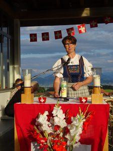 Gerda Jung bei der Festansprache